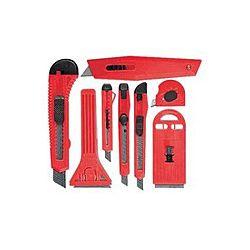 Набор ножей выдвижные лезвия + скребки выдвижное фиксированное лезвие 8 предметов МТХ