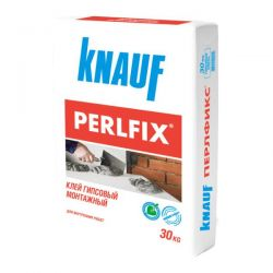 Клей гипсовый монтажный KNAUF Perlfix (Перлфикс) 30 кг