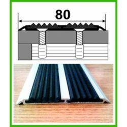 Профиль с резиновой вставкой УЛ-153  3м серебро