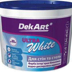 """Краска интер.  """"Dekart"""" белая мат. """"Ultra White"""" 1,2кг"""