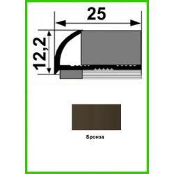 Алюминиевый порожек для керамической плитки - НАП 10 - 2,7м Бронза