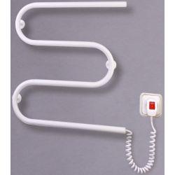 """Электрический полотенцесушитель """"Змейка"""" М 500*500*70 белый, 50 Вт"""