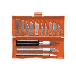 Набор ножей для резбления по дереву, 3 ножа+13 лезвий  Sparta