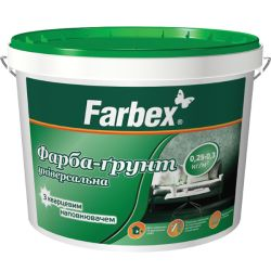 Грунтующая краска Farbex с кварцем 5л/7кг