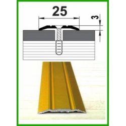 Алюминиевый порожек -003  Золото  0,9м