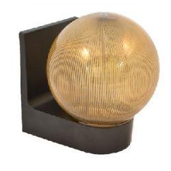Светильник настенный 623 плафон куля дымчатая ребриста, 220В/15Вт