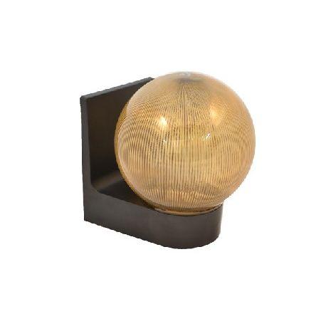 Светильник настенный 623 плафон куля дымчата ребриста, 220В/15Вт