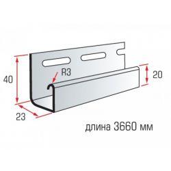 Планка J-trim димчатий 3,66 м