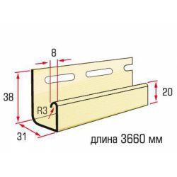 Планка J-trim лимонная 3,66 м