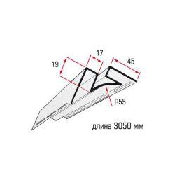 Планка угол внутренний белый 3,05 м