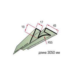 Планка угол внутренний салатовый 3,05 м