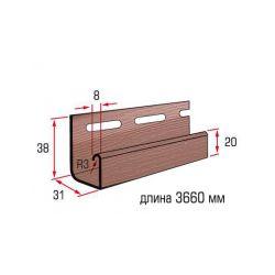 Планка J-trim красно коричневый 3,66 м