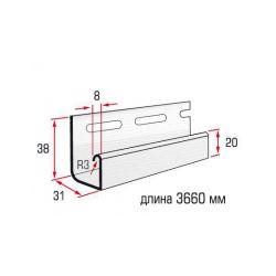 Планка J-trim желтый 3,66 м