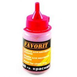 Краситель для шнура малярного красный  60 гр FAVORIT