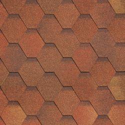 Кадриль черепица соната красно-коричнева (Шинглас) пачка 3м2