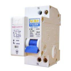 Дифференциальный автоматический выключатель ( УЗО) PF4 2р 40А/0,03 ETON