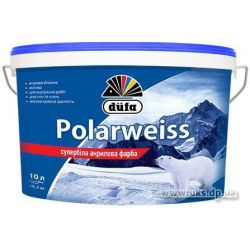 Краска фасадная Polarweiss D605 супер-белая 10л DUFA