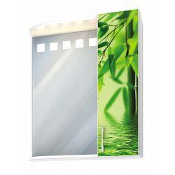 Шкаф-зеркало бамбук зеленый 60см