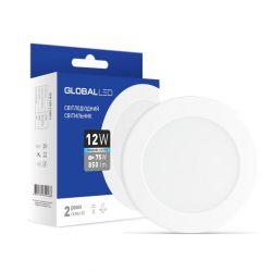 LED светильник GLOBAL 12W 5000K (1-SPN-008-C)