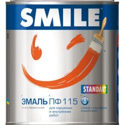 SMILE Эмаль ПФ-115 Красная 0,5кг