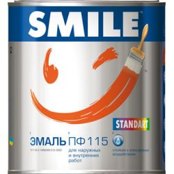 SMILE Эмаль ПФ-115 Красно-коричневая 0,5кг