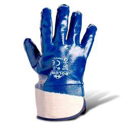 Перчатки рабочие нитрил полный облил гладкие (манжет крага)