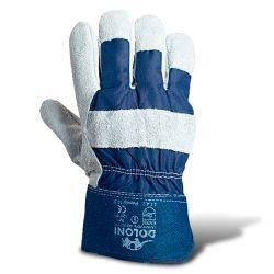 Перчатки рабочие комб. союзов + ткань (усиленные палец прорезями манжет крага)