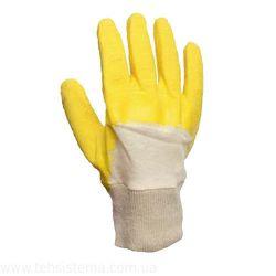 Перчатки рабочие стекло нитрил облил с откр. тыльной частью основа хлопок