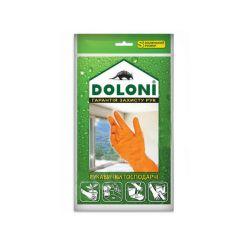 Перчатки универсальные господарчи Doloni латексни размер S