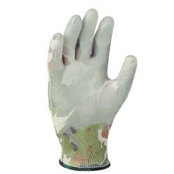 Перчатки трикотажные с полиуретановым покрытием милитари