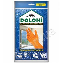 Перчатки универсальные господарчи Doloni латексни размер L