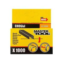 Скобы длч степлера 8 мм 1000 шт Master Tool