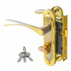 Ручка дверная FZB 15-01  SN/СP