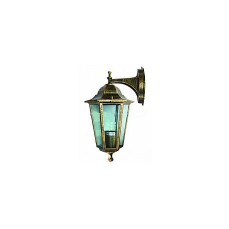 Светильник сад-парковый PL 6102  античн. золото  стекло прозрачное ,220В/60Вт