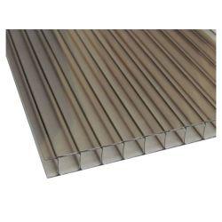 Сотовый поликарбонат POLYGAL 10 мм. бронзовый