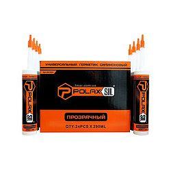Герметик силикон универсальный POLAX  прозрачный  280 мл