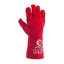 """Перчатки для сварщика, """"Краги"""" красные Интертул"""