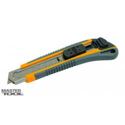 Нож пластиковый корпус автозамок 3 лезвия MasterTool