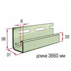 Планка J-trim салатовый 3,66 м