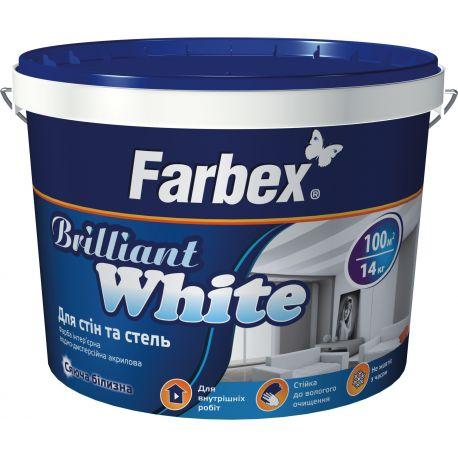 Краска для потолков и стен Белоснежная ВДА,белая, ТМ Farbex - 5л (7кг)