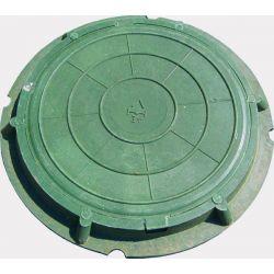 Люк канализационный полимерком легкий (1,5т) зеленый