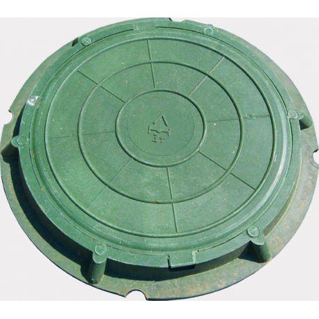Люк канализац полимерком лег (1,5т) зеленый