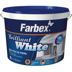 Краска для потолков и стен Белоснежная ВДА,белая, ТМ Farbex -10л (14кг)