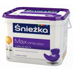 Краска в/э MAX White LATEX 3л, 4,2кг