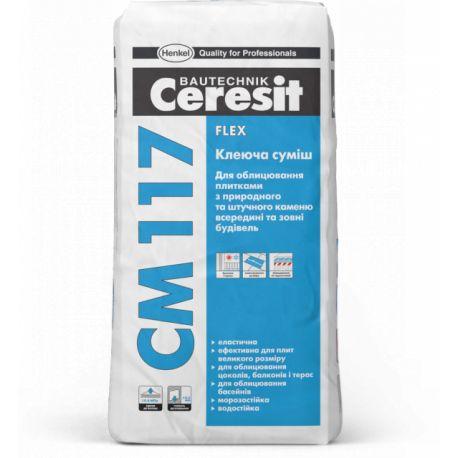 """Клей эластичный """"Церезит"""" СМ-117, 25 кг"""