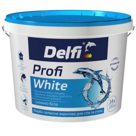 "Краска ""Delfi"" латексная ""Profi White"" 1,4кг"