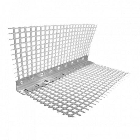 Уголок алюминиевый перфорированный с сеткой 3,0м 7*7