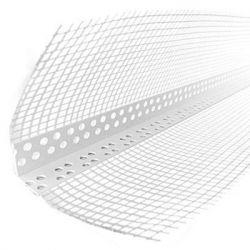 Уголок Пластиковый перфорированный с сеткой 2,5м 7*7