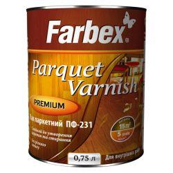 """Лак """"Farbex"""" ПФ-231 паркетный глянец 0,8 кг"""