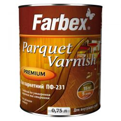 """Лак """"Farbex"""" ПФ-231 паркетный глянец 2,5 кг"""